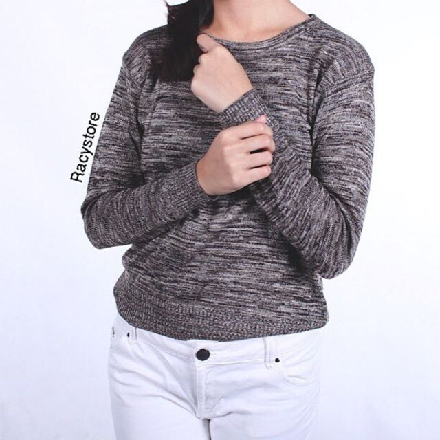Sweater Top Rajut HQ Fit To Big Size