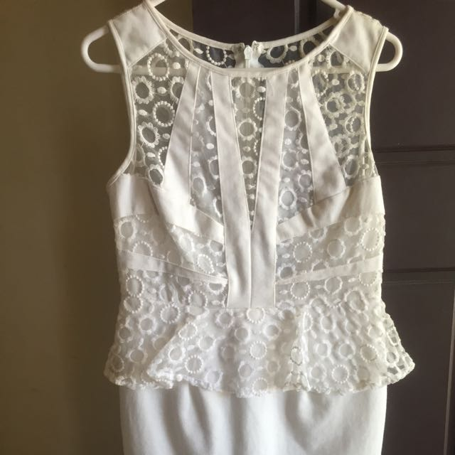 White Lace Dress Size 12