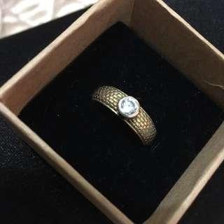 降價!純銀鍍金希臘戒指