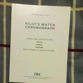 IWC 3777 Pilot's Chronograph Operating Manual
