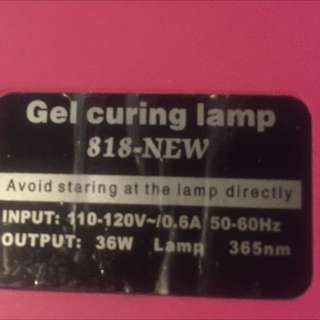 Gel Curing Lamp (for Gel Polish/Shellac)
