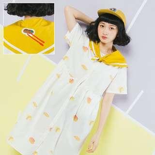 壽司滿版洋裝