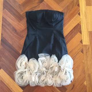 Mini Black And Nude Formal Dress
