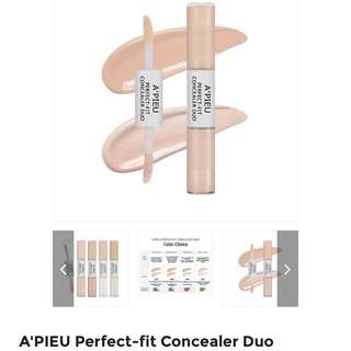 A'PIEU Perfect-Fit Concealer Duo from Korea