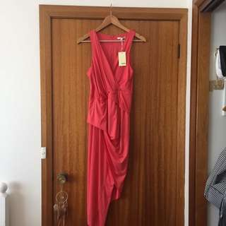 coral/ Pink Rouged Dress
