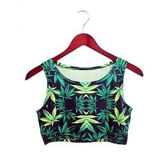 Cannabis Crop Top