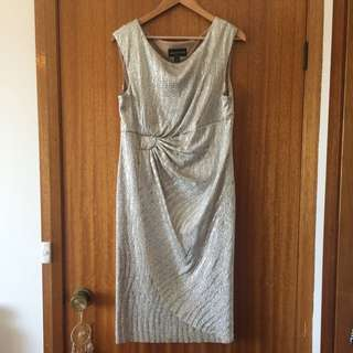 Silver Midi Cocktail Dress