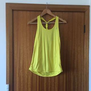 LORNA JANE yellow Work Out Top