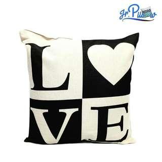 SALE!!! Sarung Bantal Sofa 45x45 soft canvas Love