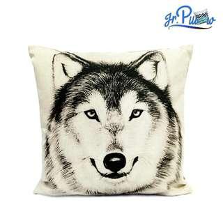 SALE!!! Sarung Bantal Sofa 45x45 soft canvas Wolf