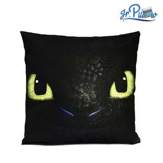 SALE!!! Sarung Bantal Sofa 45x45 Soft Canvas The Night Fury Toothless