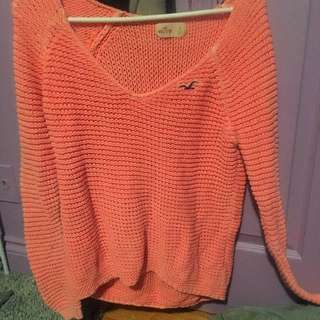 Hollister off the shoulder knit sweater