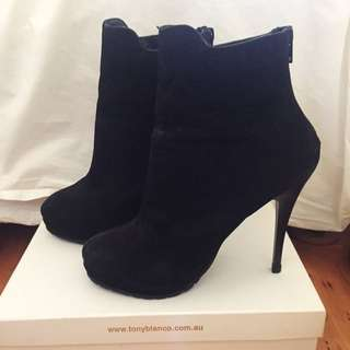 Black Stiletto Boots Size 7