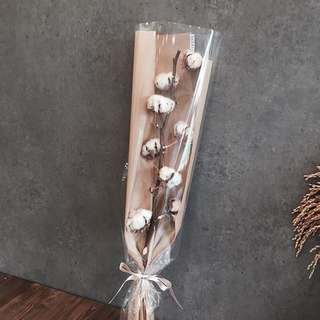 Rustic Cotton Bud Flower Stalk - Christmas Gift / Birthday Gift
