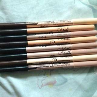 Menow 2in1 Eyebrow pencil and Concealer (7pcs)