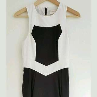 Keepsake The Label Black White Dress