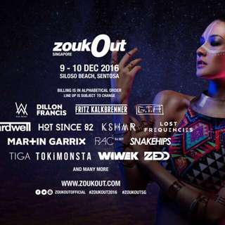 Day 1 Zoukout Ticket