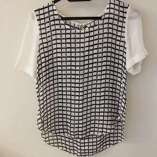 Wilfred Checkered Blouse