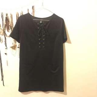 Forever 21 Black Suede Dress