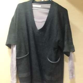 長版灰色上衣#狂歡1212