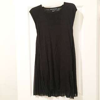 French Connection - Black Dress With Crimped Back - Size 0