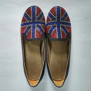 Union Jacck Studded Loafers