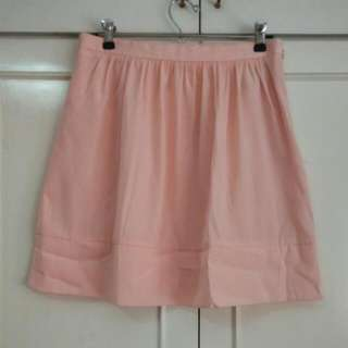 Uniqlo Peach Skater Skirt, Fully Lined, Size 27