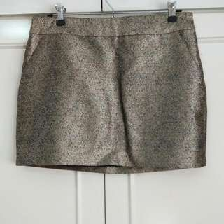 Forever21 Gold Speckled Skirt, US Size 6