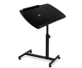 Rotating Mobile Laptop Adjustable Desk w/ USB Cooler Black