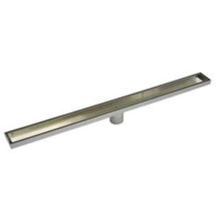 800mm Tile Insert Bathroom Shower Stainless Steel Grate Drain w/Centre outlet Floor Waste