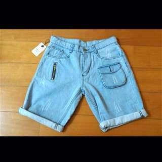 丹寧牛仔短褲*M號(男女皆可)