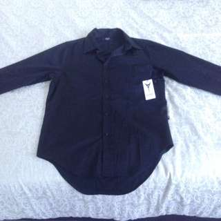 Droptail Long Sleeve Carré Button Up