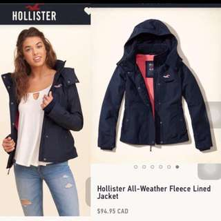 Navy Blue hollister Jacket