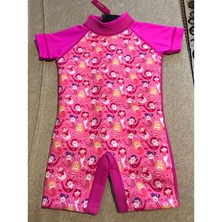 Toddler Baby Pink Color Thermal Swimming Wetsuit