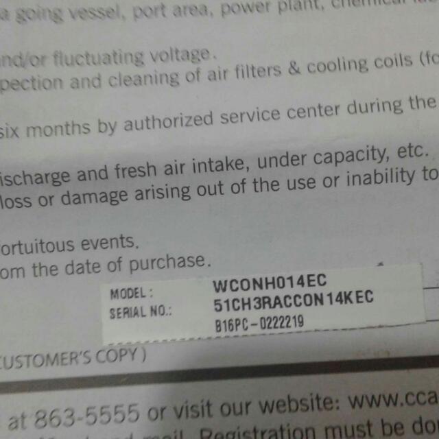 1.5 Condura AC Manual