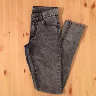 Grey Acid Wash Cheap Monday Jeans