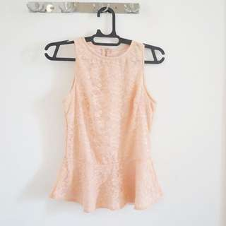Pink Pastel Peplum Dress