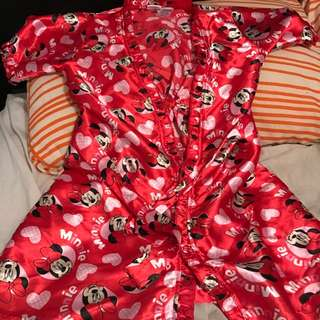 Minnie Mouse Silk Dressing Gown