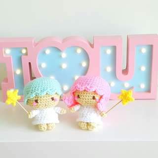 Crochet Kiki and Lala Pair From Little Twin Stars