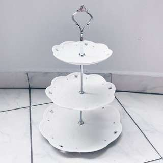 Dessert Table Props - 3 Tier Porcelain Cake Stand