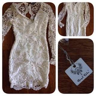White Angel Biba Dress Size 8 BNWT: