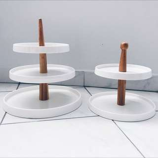Dessert Table Props - Ceramic/Wooden Tier Cake Stands