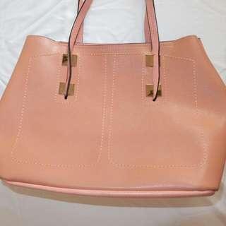 Peach Soft Pink Bag