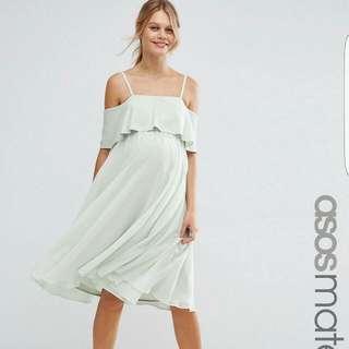 Asos Maternity Cold Shoulder Midi Dress