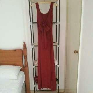 Maroon Red Formal Dress/ Maxi Dress