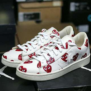 bf9eeb756dc9 Play CDG X Converse Pro Leather Low Size 10