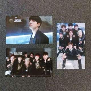 [TRADE] BTS Dark & Wild group photocards