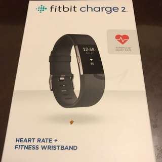 (Reserved) Fitbit Charge 2 (black, large 16.5-19.6cm)