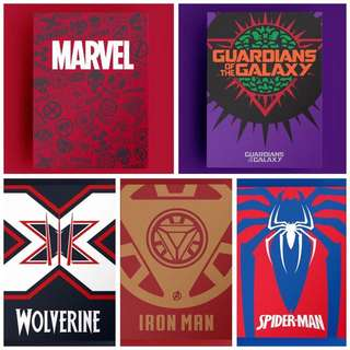 *INSTOCK* Marvel Themed Notebooks Iron Man Spiderman Guardians Of the Galaxy Wolverine