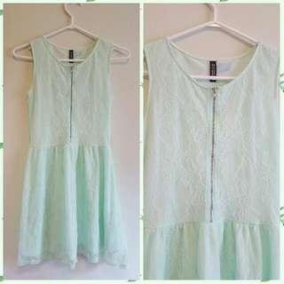 H&M Mint Green Lace Dress